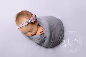 newborn-baby-girl-blue-purple-wrap-headband-epsom-surrey