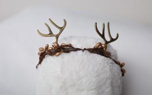 Brown antler-headband