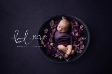 newborn-baby-purple-bowl-flowers-epsom-surrey