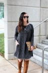 Sweater Dress with Knee Boots