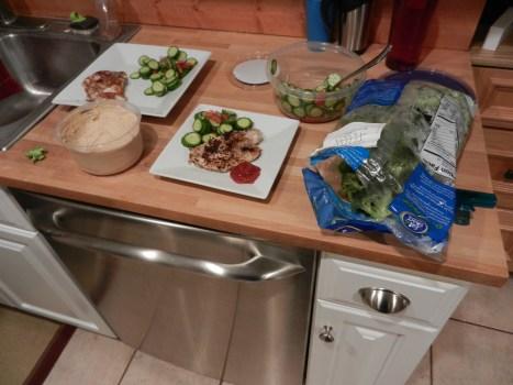 dinner tilapia and broccoli