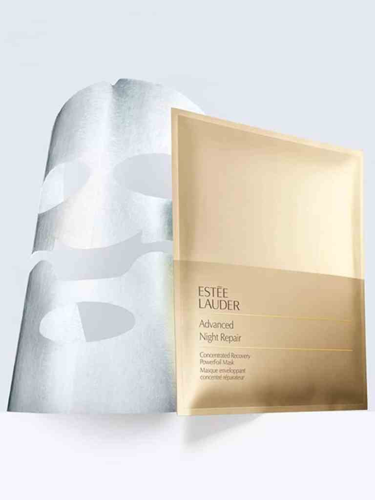 BEAUTIFUL MORNING estee-lauder-advanced-night-repair-powerfoil-mask- sheet mask Origins Drink up nachtmasker lijntjes kleimasker Kiehl's Gezichtsmasker huidveroudering Glamglow Youthmud Estée lauder advanced night repair powerfoil mask droge huid