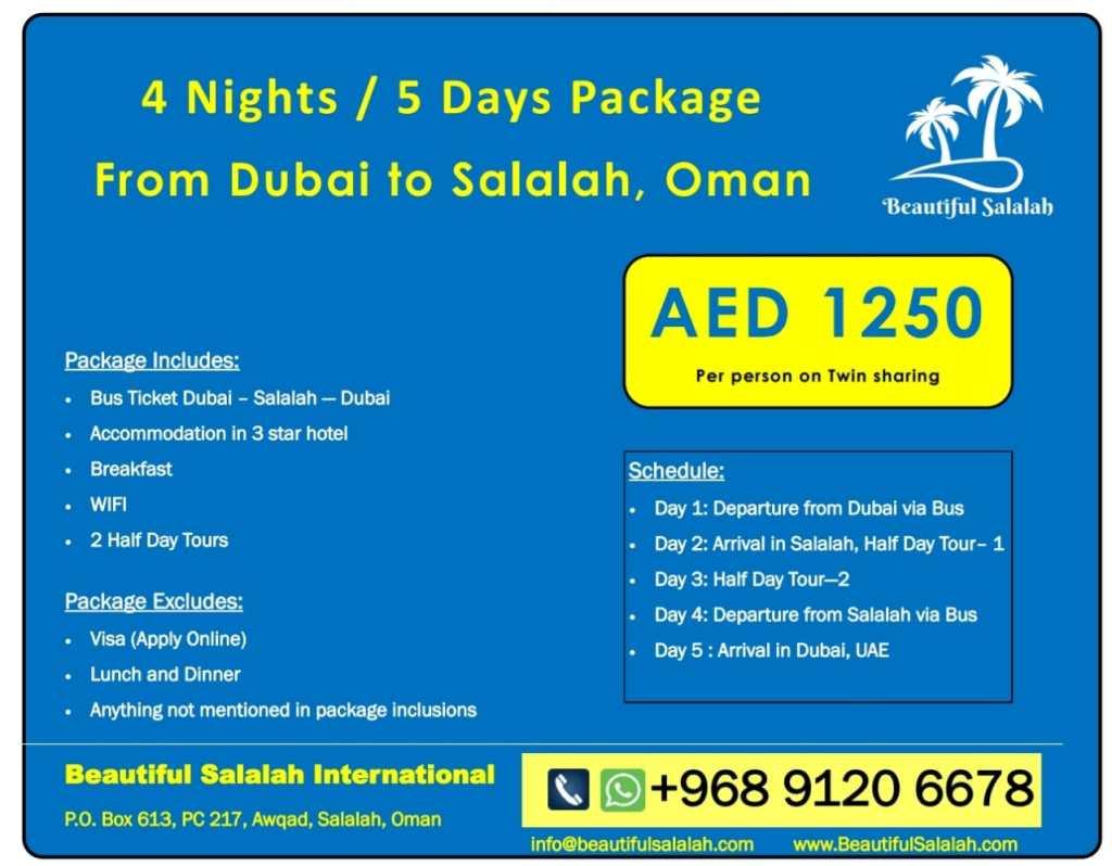 Salalah Tour Package from Dubai - Best Dubai to Salalah