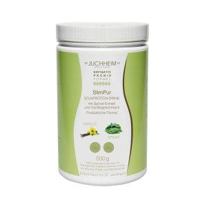 SlimPur Sojaprotein-Drink mit Spinat-Extrakt und Vanillegeschmack Probiotische Formel - Effect-Food by Dr. Juchheim