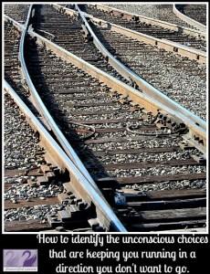 Unconscious decisions railway tracks