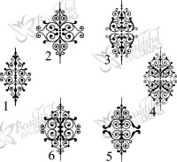 Ornate Baroque - Beautiful Wall Decals