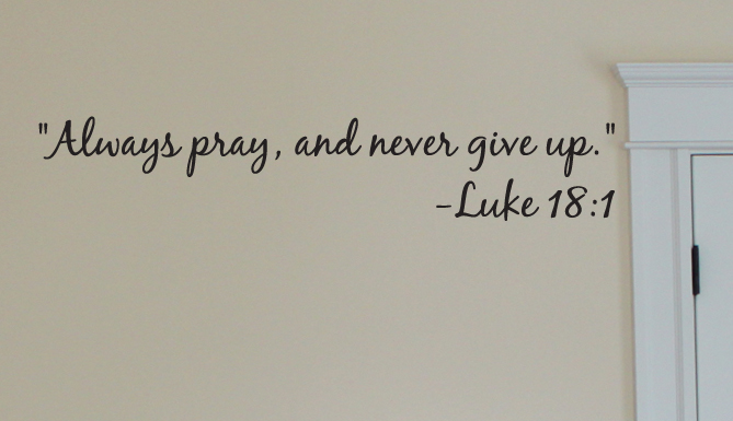 Product Reviews Always Pray Wall Decal