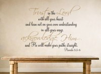 Trust in the Lord - Beautiful Wall Decals