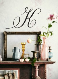 Simply Initial Wall Decal