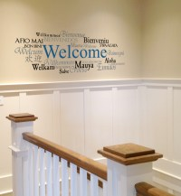 Welcome Wall Decal - w Wall Decal