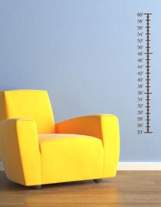 Plain height chart wall decals also beautiful rh beautifulwalldecals