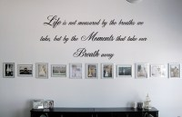 Script Life Is Not Measured - Beautiful Wall Decals