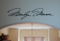 Marilyn Monroe Signature - Beautiful Wall Decals