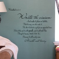 Write The Vision - Beautiful Wall Decals