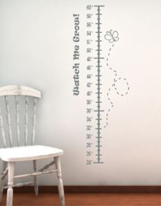 Watch me grow height chart wall decals also beautiful rh beautifulwalldecals