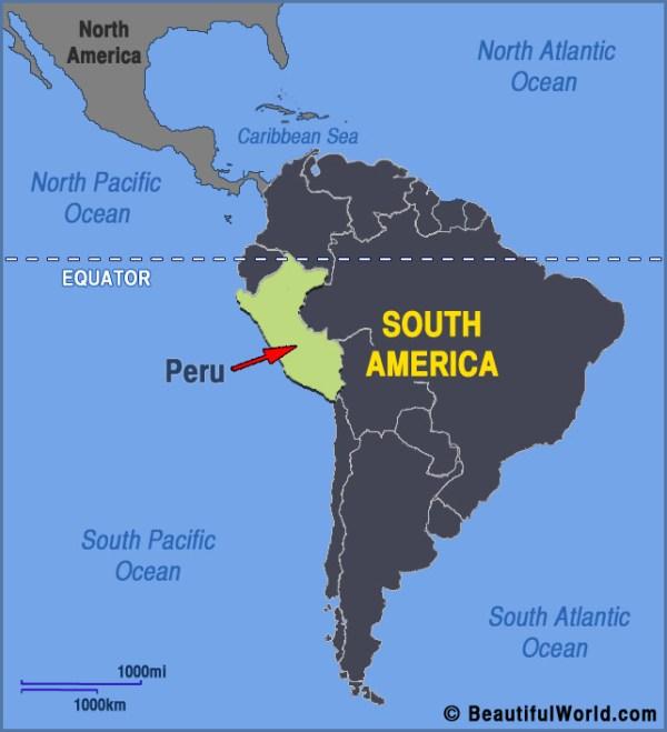 Map of Peru Facts Information Beautiful World Travel