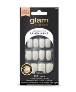 Manicare Glam Glue On Nails Bare Sq Med