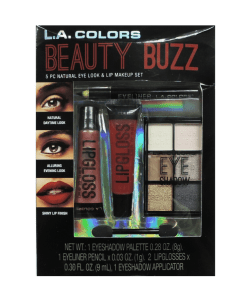 L.A. Colors Beauty Buzz 5pc Natural Eye Look And Lip Makeup Set