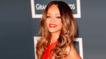 Rihanna showcasing Balayage hairstyle