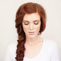 Side braid red hair