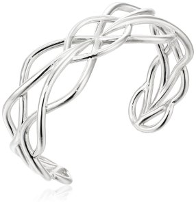 Zina Sterling Silver Wired Woven Cuff Bracelet, 2.2%22