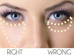 How to correctly apply the concealer to hide dark circles under the eyes and skin imperfections