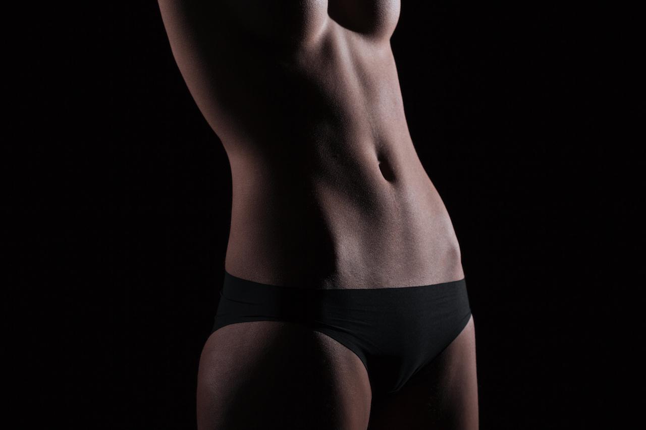 Closeup portrait of a sexy female body