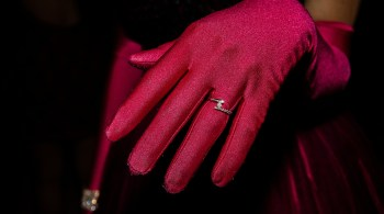 Hand with glove and ring