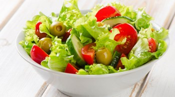 Fresh mixed vegetables salad