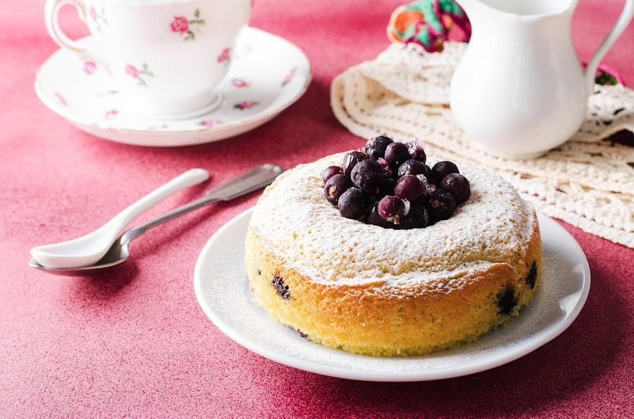 Lemon Blackberry Baked Pancake