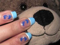 Nail Art Design for Baby Showers