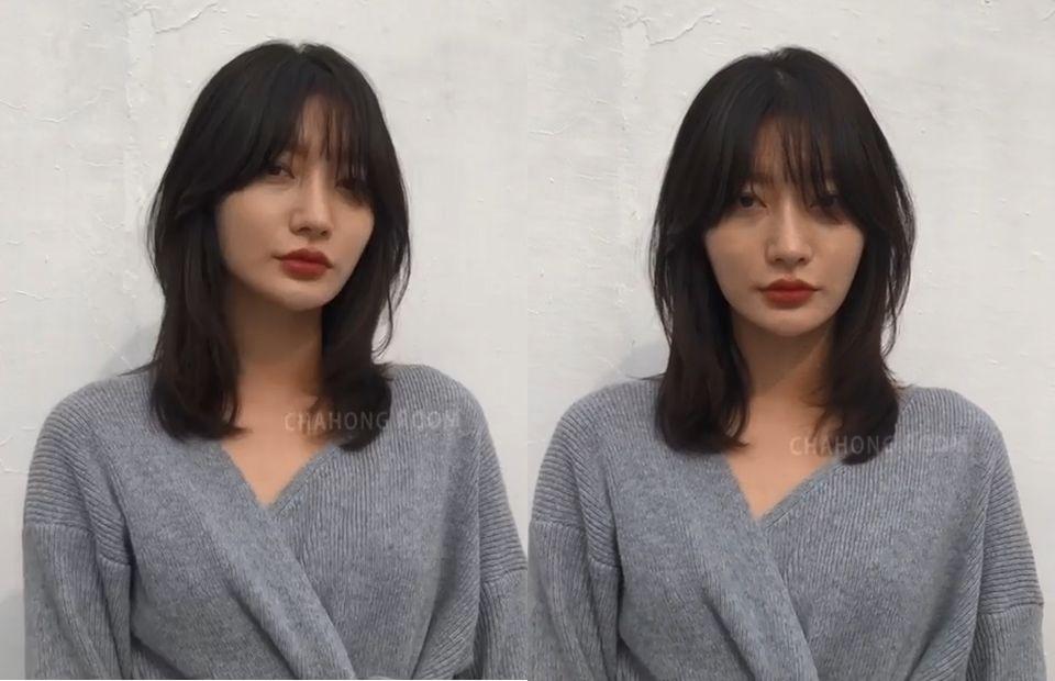 韓國大勢5款中長髮「捲度範本」!2019秋冬中長髮髮型圖鑑,顯瘦遮肉的小臉髮型是這款