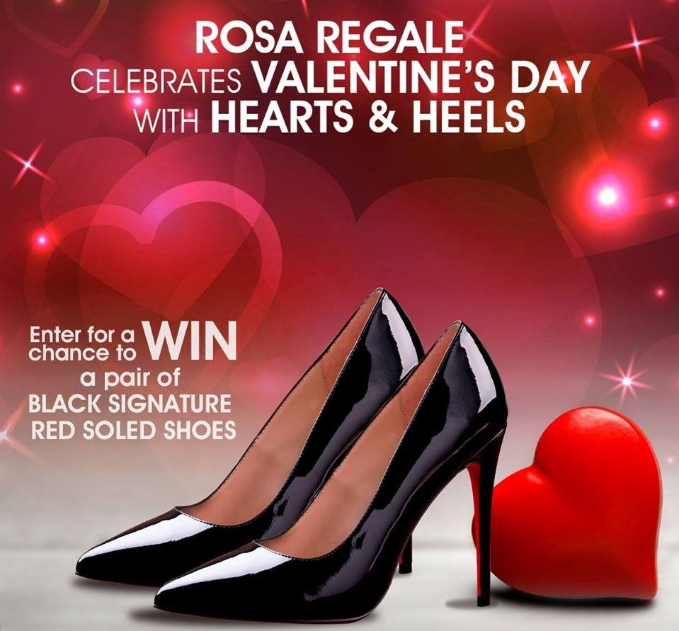 Rosa Regale - Black Signature Red Soled Shoes Giveaway