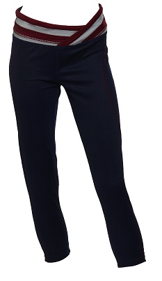 Legging with coloured band (navy) AED 210
