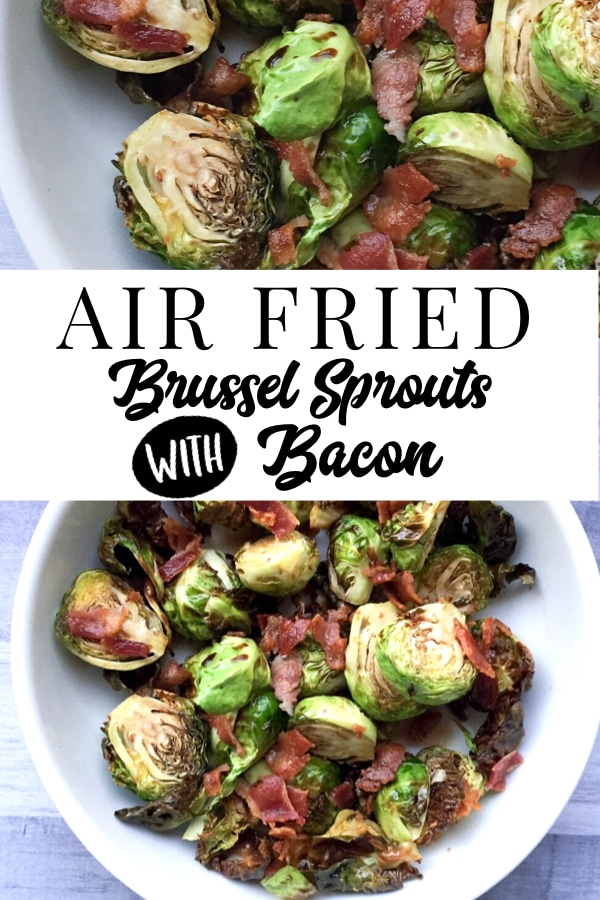 """A quick and easy recipe for air fried brussel sprouts! A healthy and low carb way to """"fry"""" your vegetables! #airfryerrecipes"""
