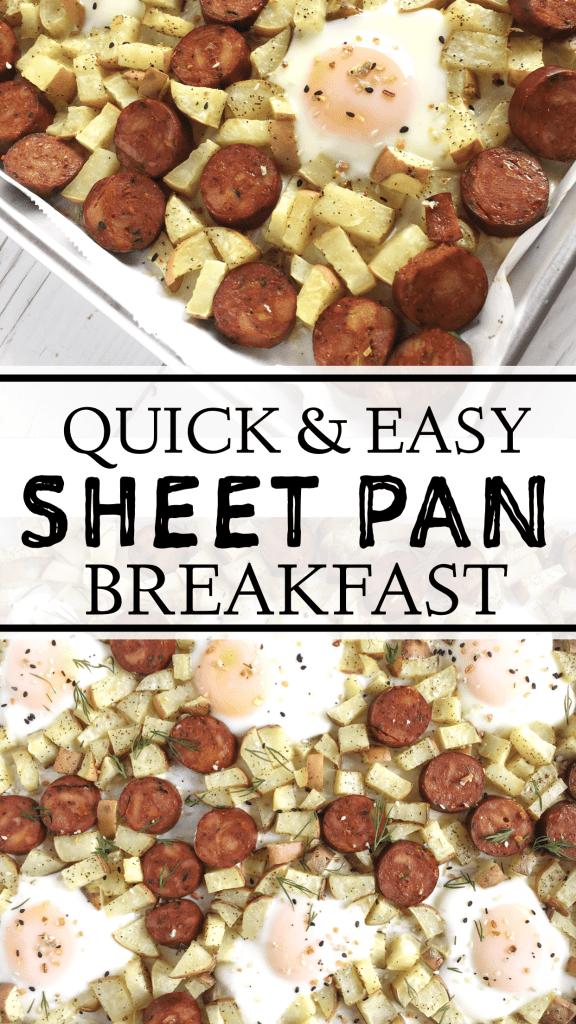 Quick & easy sheet pan breakfast!