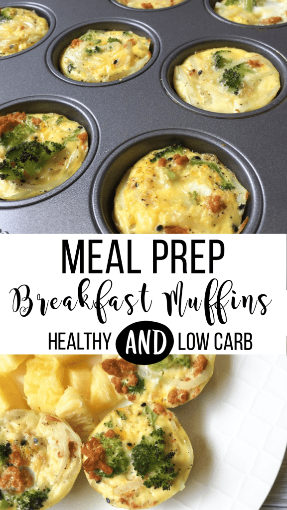 A quick & easy make ahead breakfast that will fit right into your meal prep routine! These breakfast muffins are healthy, low carb and packed with protein! #mealprep #breakfast #healthybreakfast #lowcarb #breakfastmuffins