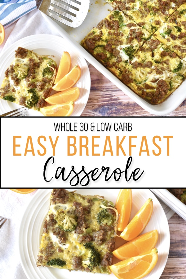A Whole30 Compliant and low carb casserole that serves as a quick and easy make ahead meal prep option! #whole30recipes #breakfast #healthycasserole