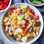 Greek Pasta Salad (Healthy, Gluten-Free, 20 Minutes)