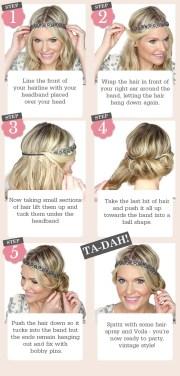 5 easy steps vintage updo