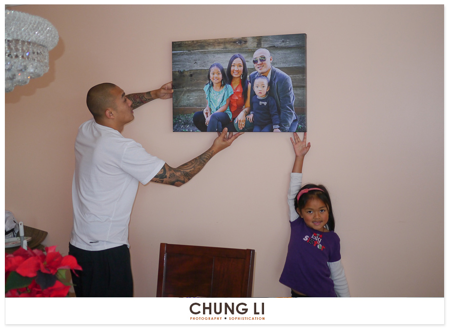 family portrait wall canvas