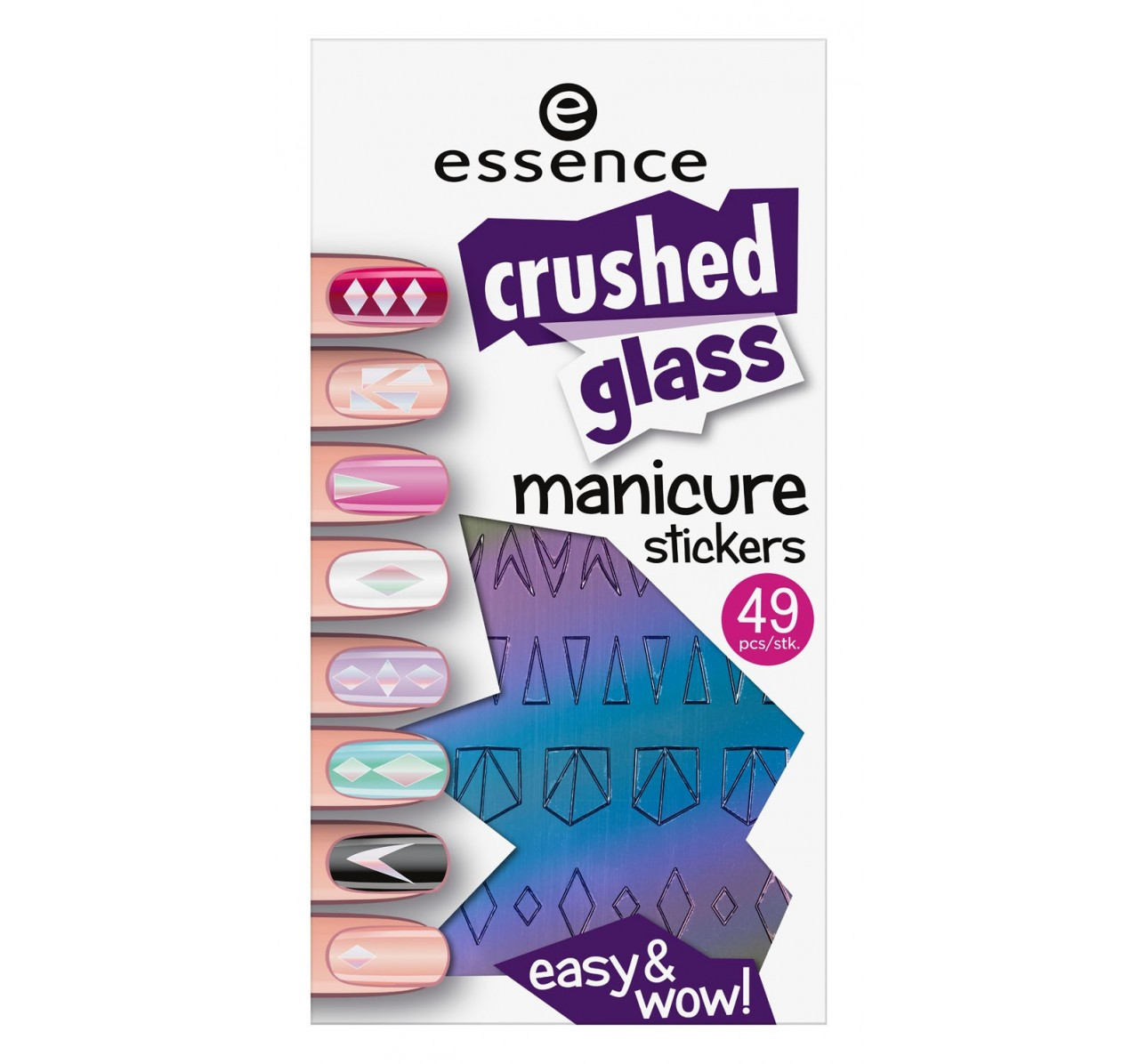 Essence Crushed Gl Manicure Stickers 01 It Pieces 49pcs