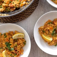 Chicken, Chorizo & Prawn Paella Recipe