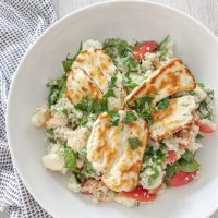 Halloumi & Apple Couscous Salad