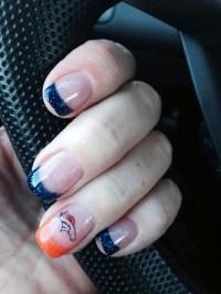 Denver Broncos nail design - Beauty Bar, Inc.