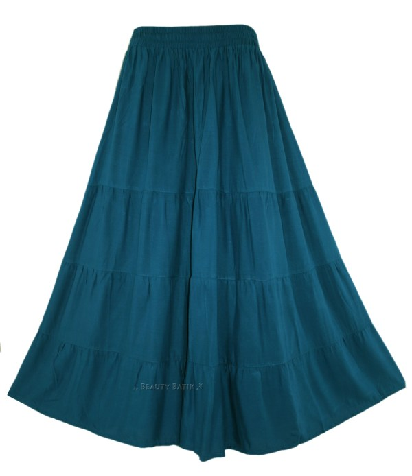 Long Gypsy Skirt Tiered Maxi