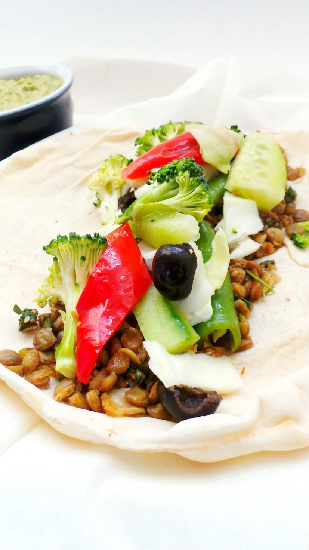 Vegan lentil wraps / Vegan lentil tacos - Beauty Bites