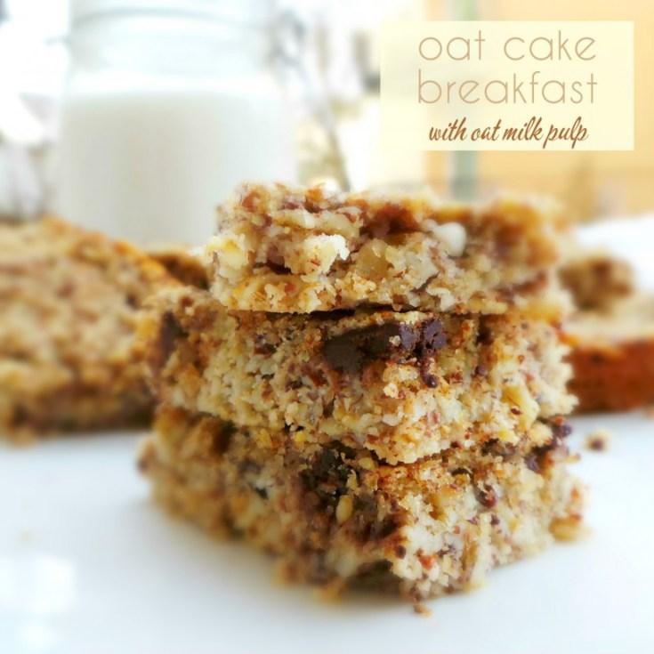 Healthy Vegan Oatmeal Squares