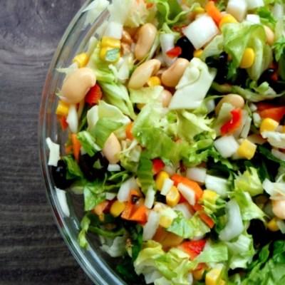 Beauty Food Recipes: 8 Minute High Fiber Salad