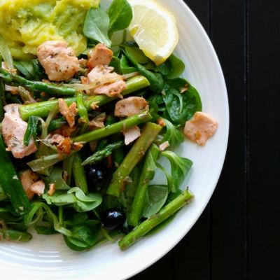 Beauty Bites: Salmon with Asparagus and Other Vegetables